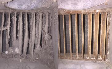 CWRU Bathroom Exhaust Before and After