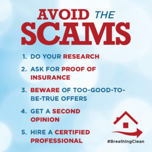 avoid hvac cleaning scams